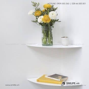 Kệ góc tường nhà tắm 36, kệ góc bằng thép đơn giản | SMLIFE