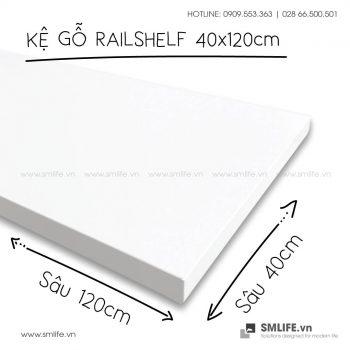 Kệ gỗ thanh ray lỗ đôi railshelf SMLIFE (2)