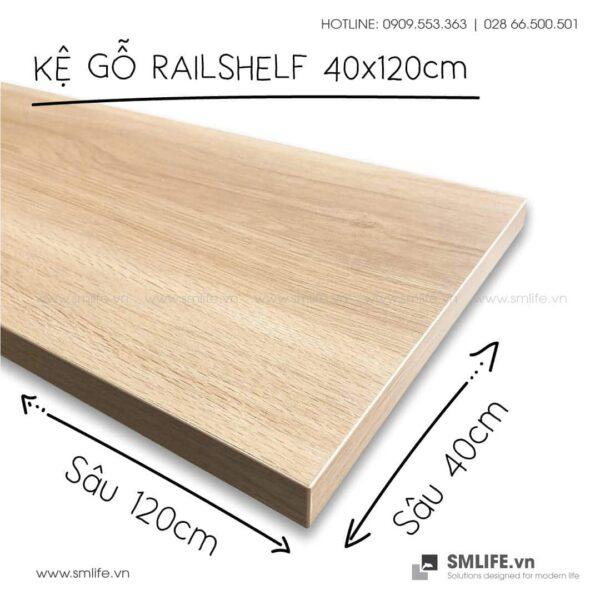 Kệ gỗ thanh ray lỗ đôi railshelf SMLIFE (4)