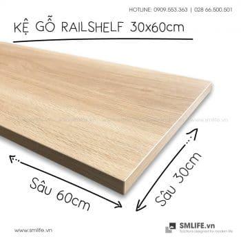 Kệ gỗ thanh ray lỗ đôi railshelf SMLIFE (7)