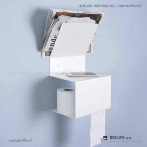 Kệ giấy vệ sinh gắn tường độc đáo | SMLIFE