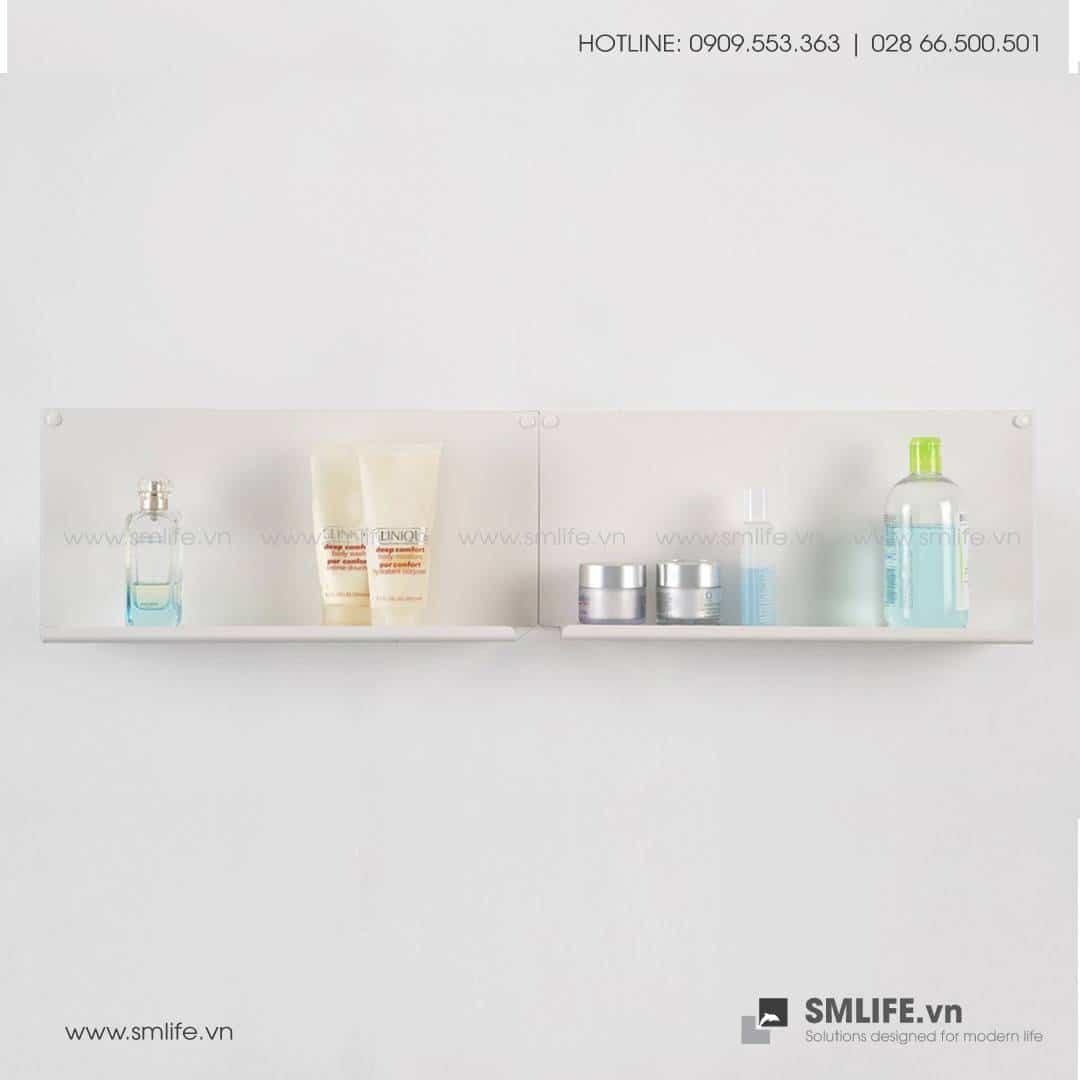 Kệ nhà tắm gắn tường L45, kệ thép trang trí SMLIFE
