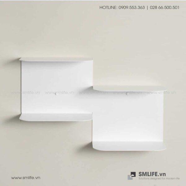 Kệ sách bậc thang BT60, kệ trang trí gắn tường   SMLIFE
