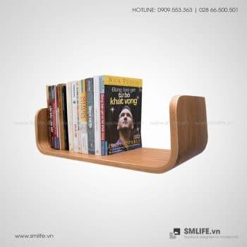 Kệ sách gỗ uốn cong C49 SMLIFE