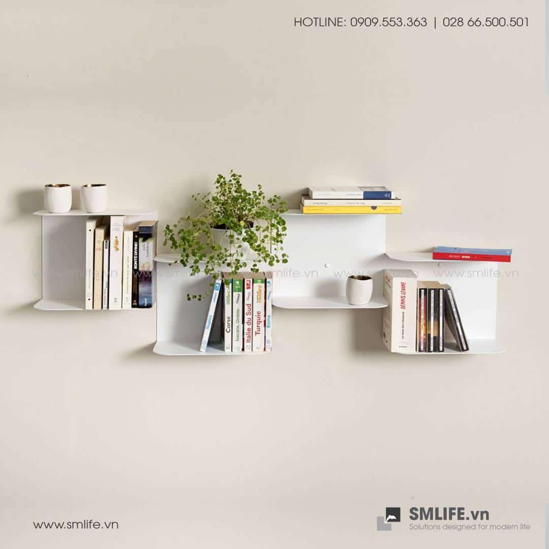 Kệ sách treo tường bậc thang SMLIFE (1)