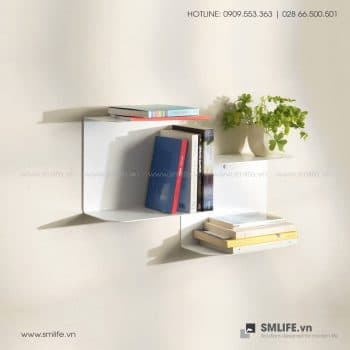 Kệ sách treo tường bậc thang SMLIFE (2)