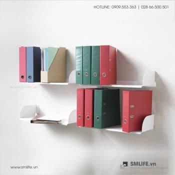 Kệ sách treo tường chữ D SMLIFE