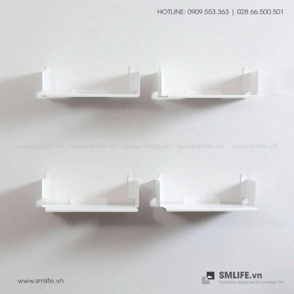 Kệ sách treo tường chữ D45, kệ sách thép gắn tường | SMLIFE