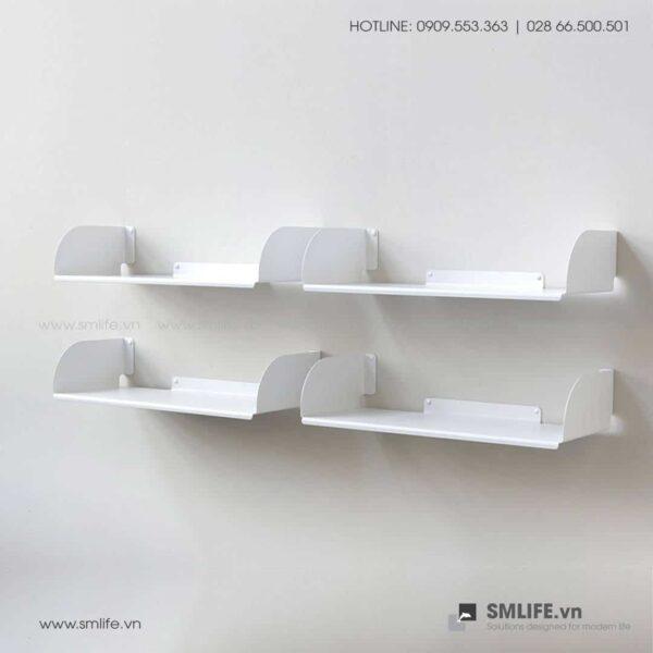 Kệ sách treo tường chữ D60, kệ sách thép gắn tường   SMLIFE