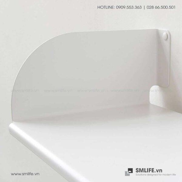 Kệ sách treo tường chữ D60, kệ sách thép gắn tường | SMLIFE