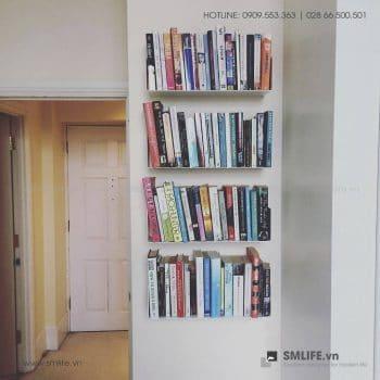 Kệ sách treo tường chữ U, kệ sách thép gắn tường | SMLIFE