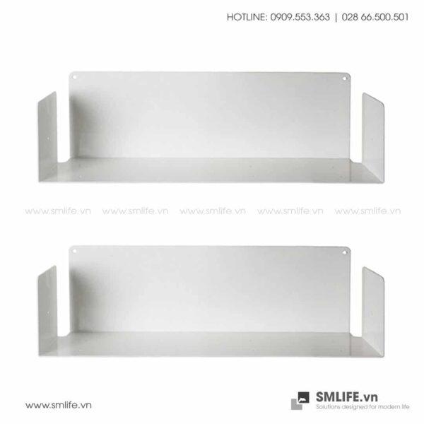 Kệ sách treo tường chữ U45, kệ sách thép gắn tường | SMLIFE