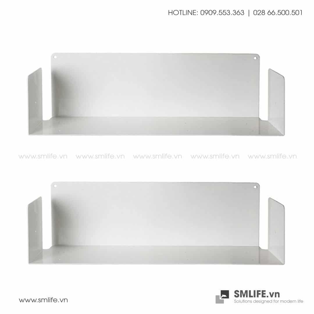 Kệ sách treo tường chữ U45, kệ sách thép gắn tường   SMLIFE