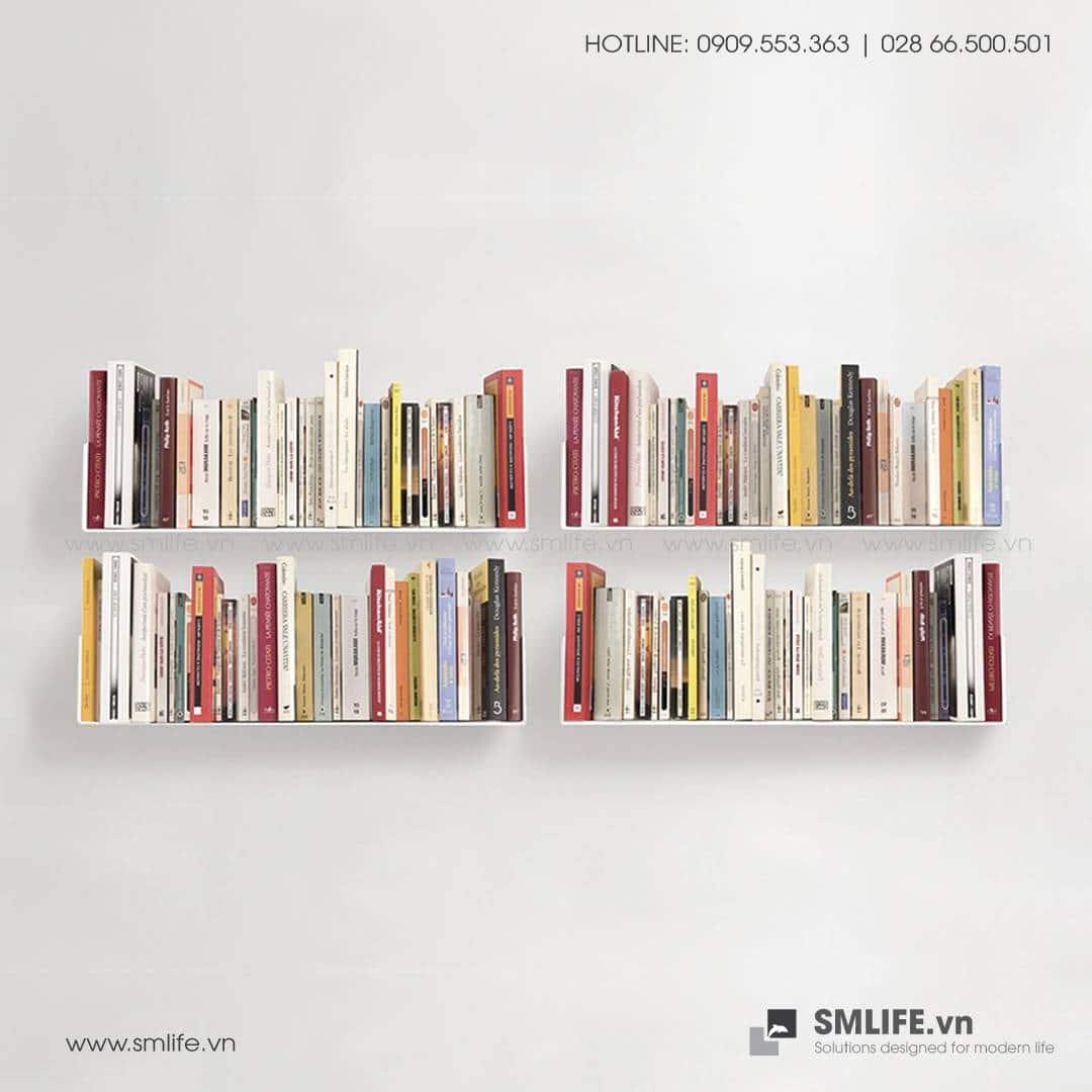 Kệ sách treo tường chữ U60, kệ sách thép gắn tường | SMLIFE