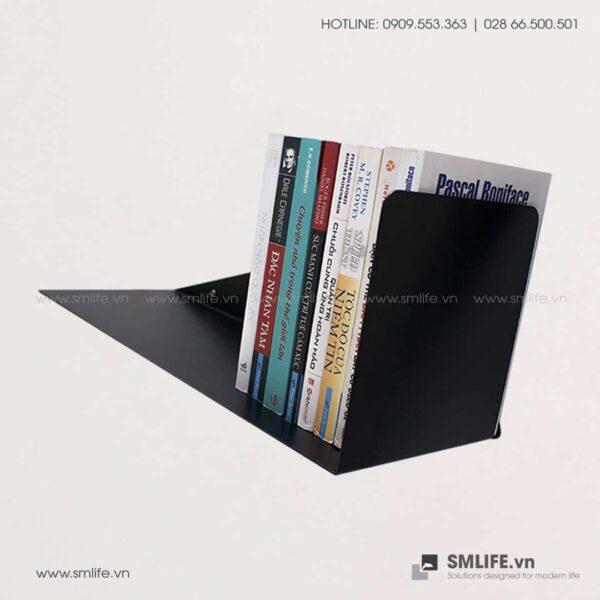 Kệ sách xéo gắn tường X50, kệ sách thép | SMLIFE