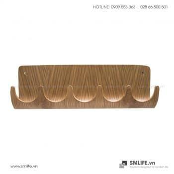 Kệ trang trí lối ra vào gỗ uốn cong | SMLIFE