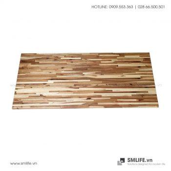 Mặt bàn gỗ tràm ép Chữ nhật 80×140, dày 2.5cm