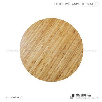 Mặt bàn tre ép Tròn D50, dày 2.5cm (Ép đứng)