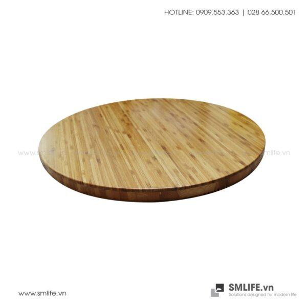 Mặt bàn tre ép Tròn D50, dày 2.5cm | SMLIFE