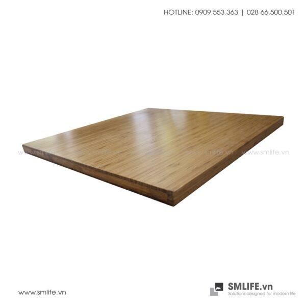 Mặt bàn tre ép Vuông SQ60, dày 2.5cm   SMLIFE