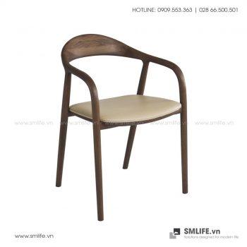 Ghế ăn bằng gỗ NEVA bọc nệm