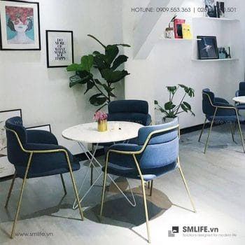 Bộ bàn ghế cafe tiếp khách hiện đại GAIL THOMAS