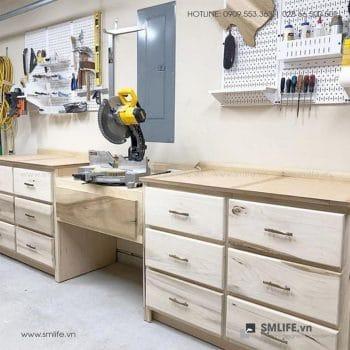 Bảng treo dụng cụ cơ khí pegboard kim loại SMLIFE cho nhà kho và garage | SMLIFE