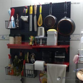 Bảng treo dụng pegboard kim loại SMLIFE nhà bếp | SMLIFE