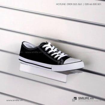 Kệ mica trưng bày kèm bảng giá cài tấm Slatwall W25 x D10cm | SMLIFE