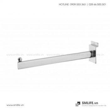 Tay treo trưng bày thẳng cài tấm Slatwall L30cm | SMLIFE