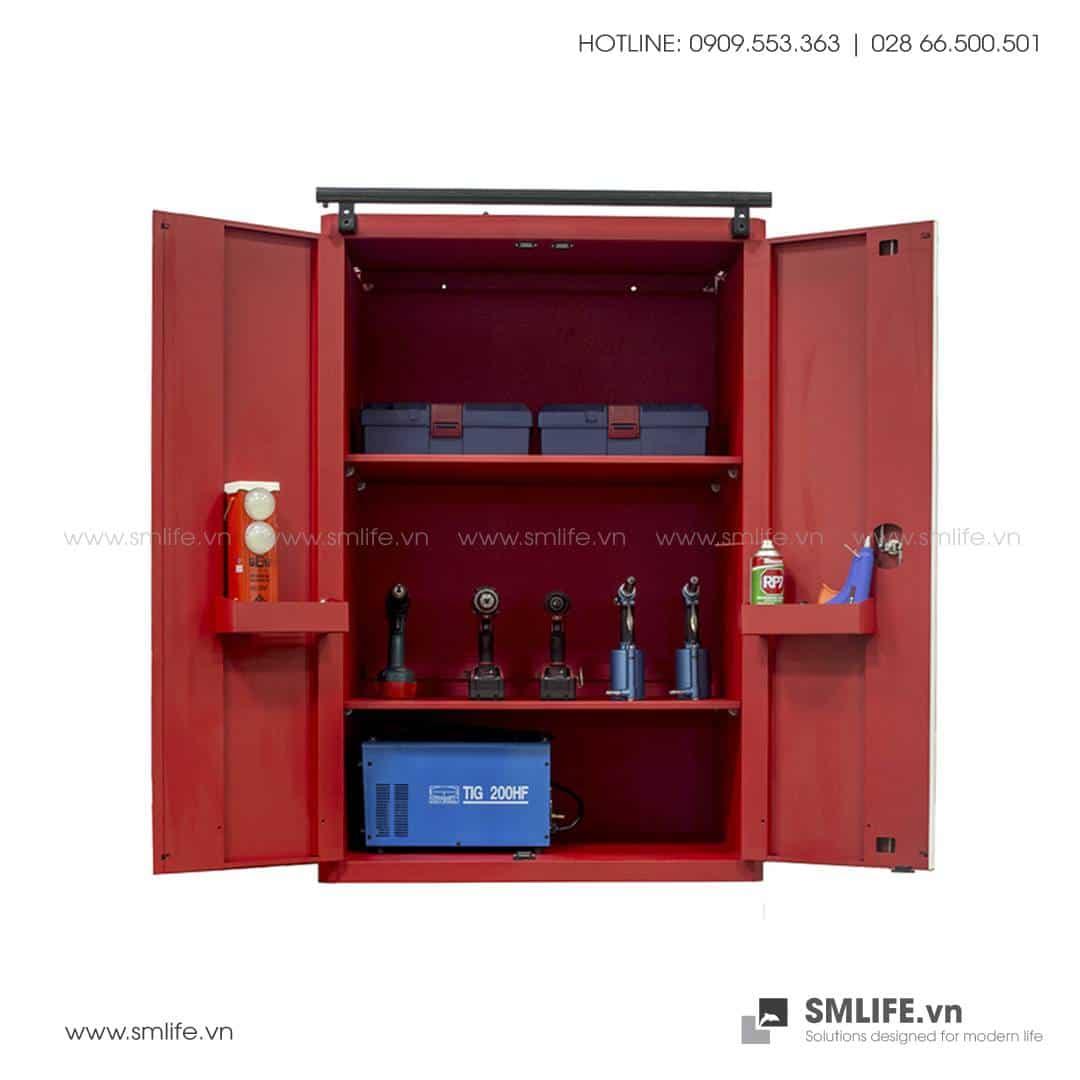 Tủ Đựng Dụng Cụ 2 Cửa 3 Ngăn CSPS – W61.5xL91xH136cm (Màu Đỏ)