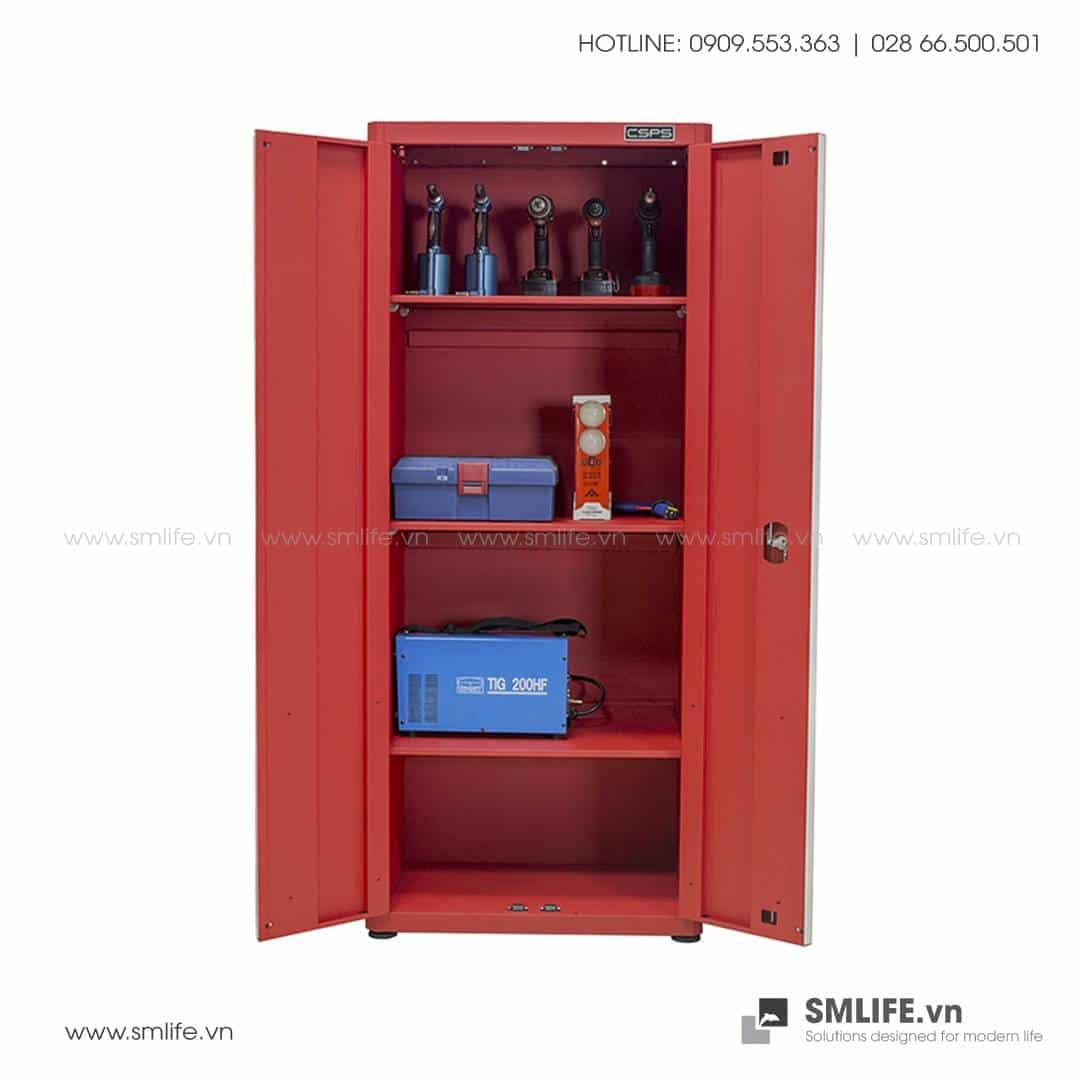 Tủ Đựng Dụng Cụ 2 Cửa 4 Ngăn CSPS – W45xL75xH181cm (Màu Đỏ)