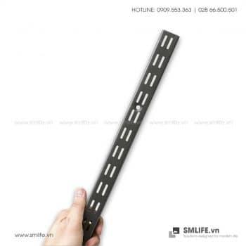 Thanh ray lỗ đôi Railshelf H60cm