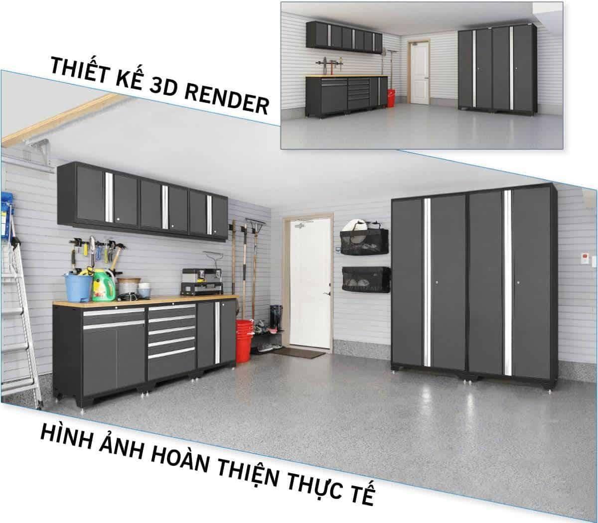 Thiết kế thi công nhà xưởng, garage hiện đại CSPS (1)