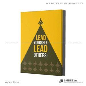 Tranh động lực văn phòng | Lead yourself, lead others!