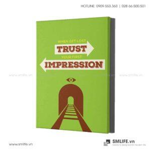 Tranh động lực văn phòng | When get lost trust you first impression