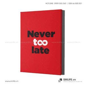 Tranh động lực văn phòng | Never too late