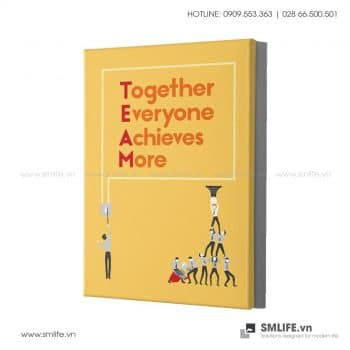Tranh văn phòng |Together Everyone Achieves More Team