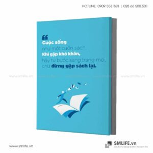 Tranh động lực văn phòng | Cuộc sống như một cuốn sách. Khi gặp khó khăn, hãy tự bước sang trang mới, chứ đừng gấp sách lại