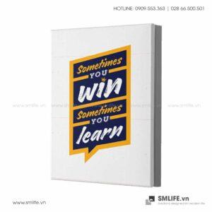 Tranh động lực văn phòng | Sometime you win sometimes you learn