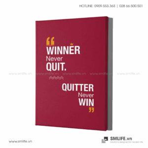 Tranh động lực văn phòng | Winner never quit. Quitter never win