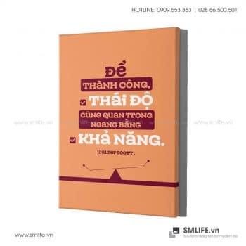 Tranh văn phòng | Để Thành Công, Thái Độ Cũng Quan Trọng Ngang Bằng Khả Năng