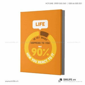 Tranh động lực văn phòng | Life is 10 % what happens to you, and 90 % how you react to it