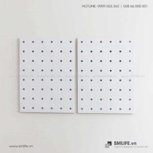 Bộ 2 Bảng Gỗ Đục Lỗ Pegboard 80x60cm | SMLIFE.vn