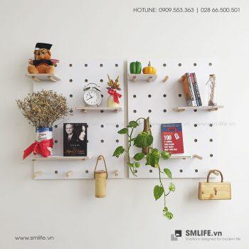 Bảng Gỗ Đục Lỗ SMLIFE Pegboard WP2 | SMLIFE.vn