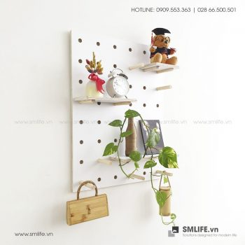Bảng Gỗ Đục Lỗ SMLIFE Pegboard WP1 | SMLIFE.vn