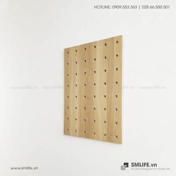 Bảng Gỗ Đục Lỗ Pegboard 80x60cm | SMLIFE.vn