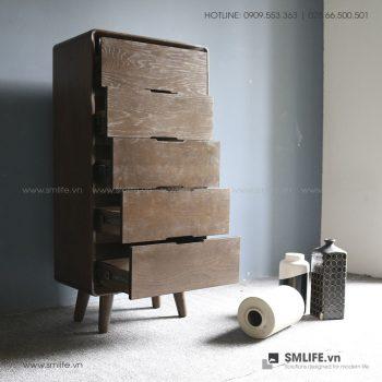 Tủ gỗ trang trí 5 hộc AGATHA | SMLIFE.vn