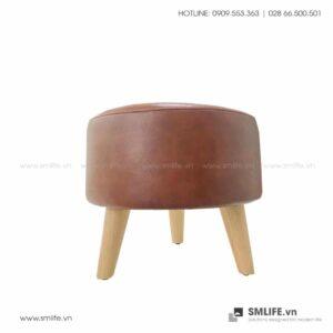 Sofa đôn 3 chân gỗ LUCY | SMLIFE.vn