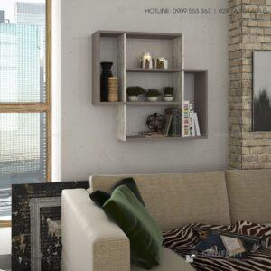 Kệ gỗ gắn tường trang trí hiện đại Blair  - Vì một sứ mệnh nội thất gỗ tự lắp ráp | SMLIFE